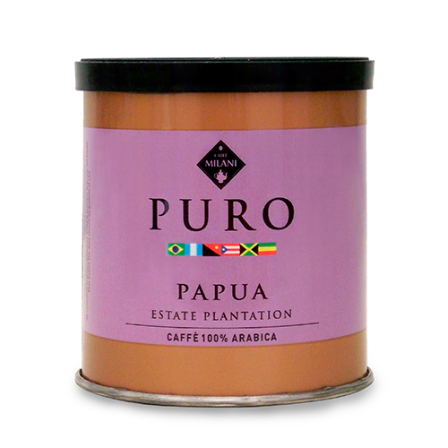 Puro Papua Estate Plantation - coffee tin - Caffè Milani
