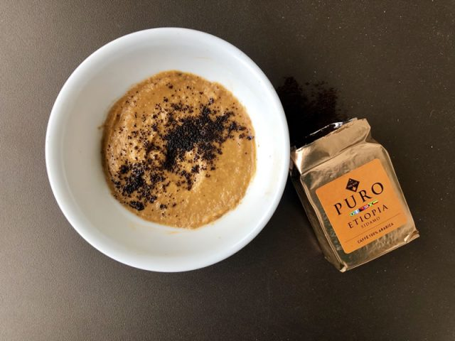 salsa di lenticchie con senape e caffe