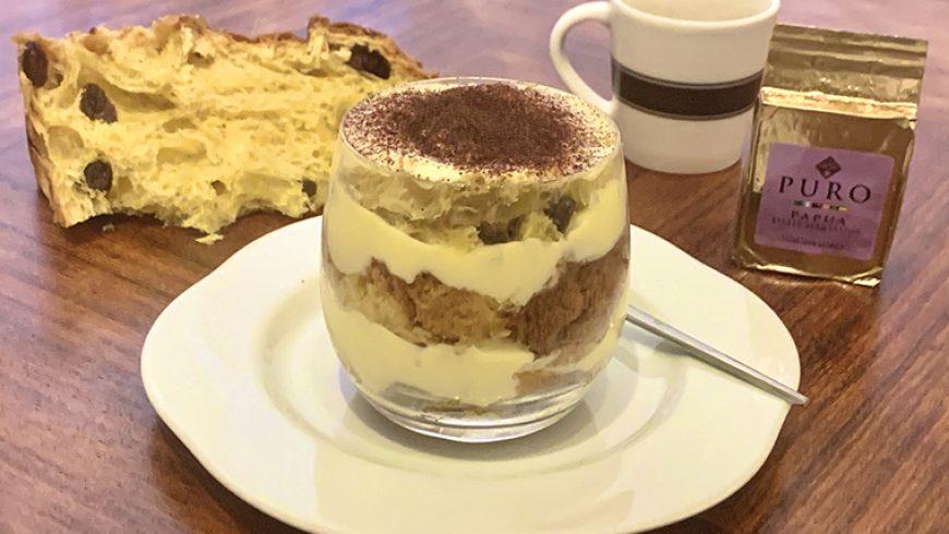 Coppette di panettone al caffè con crema al mascarpone